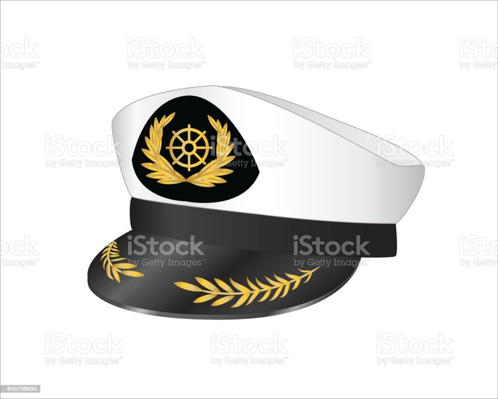 Vector illustration of captains hat vector art illustration