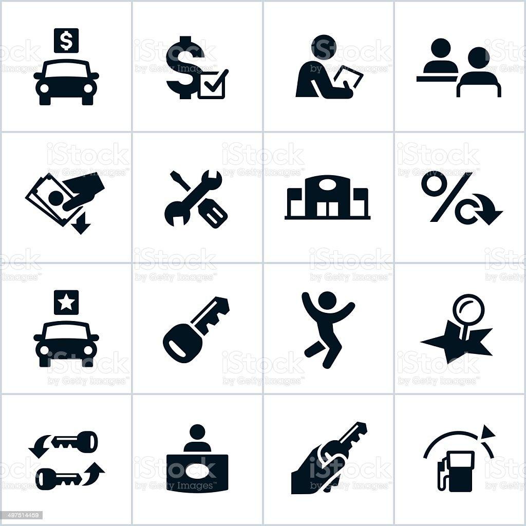Vector illustration of car dealership icons vector art illustration