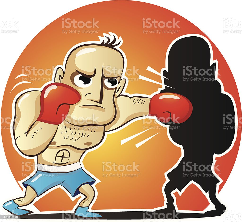 Vector illustration of cartoon boxer royalty-free vector illustration of cartoon boxer stock vector art & more images of activity