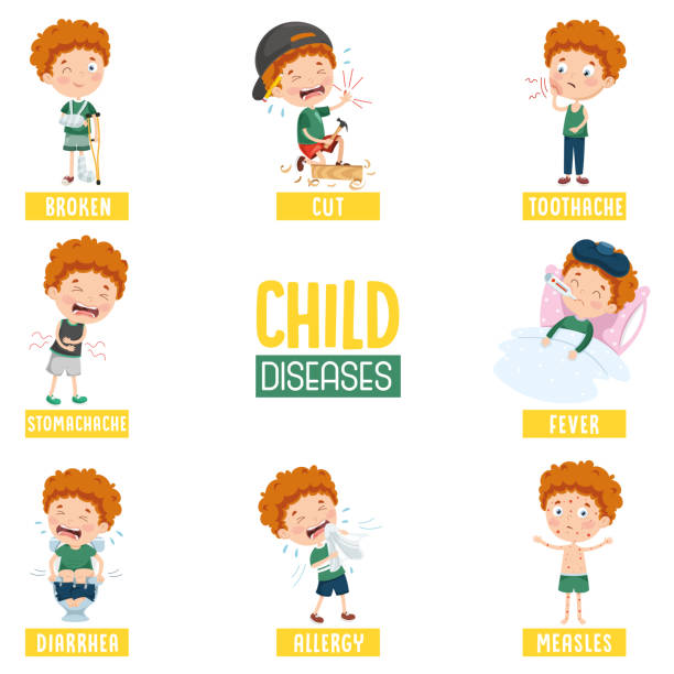 Vector Illustration Of Cartoon Character Vector Illustration Of Cartoon Character medical condition stock illustrations