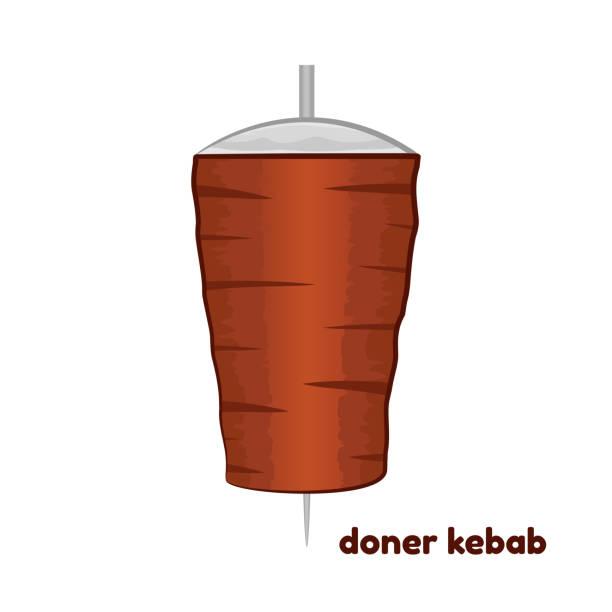 vektor-illustration von cartoon döner kebab - döner stock-grafiken, -clipart, -cartoons und -symbole