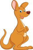 Vector Illustration Of Cartoon Kangaroo