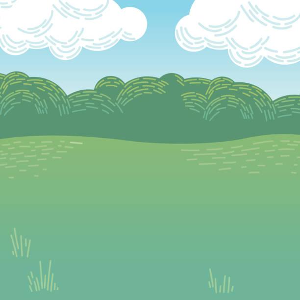 illustrazioni stock, clip art, cartoni animati e icone di tendenza di vector illustration of cartoon park or woodland - sfondo animali