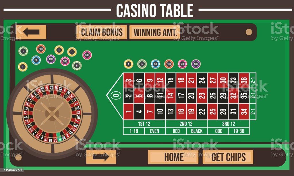 Vector illustration of Casino table - Royalty-free Art stock vector