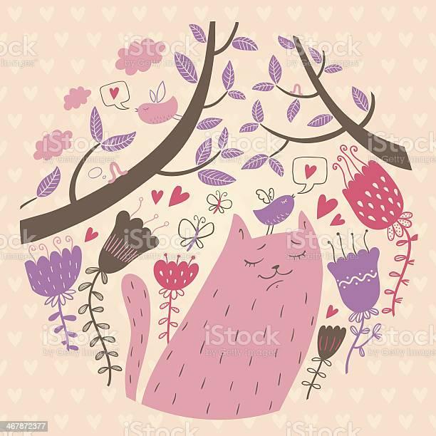 Vector illustration of cat in love vector id467872377?b=1&k=6&m=467872377&s=612x612&h=k0nj5qih4wbqjteiii4clng34 wq8opbqlybdxaw48c=
