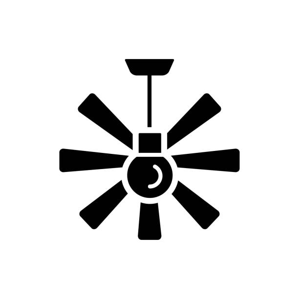 Royalty Free Ceiling Fan Clip Art, Vector Images