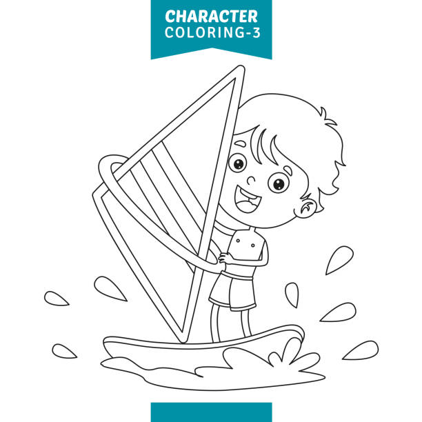Top 60 Windsurfing Drawings Clip Art Vector Graphics And