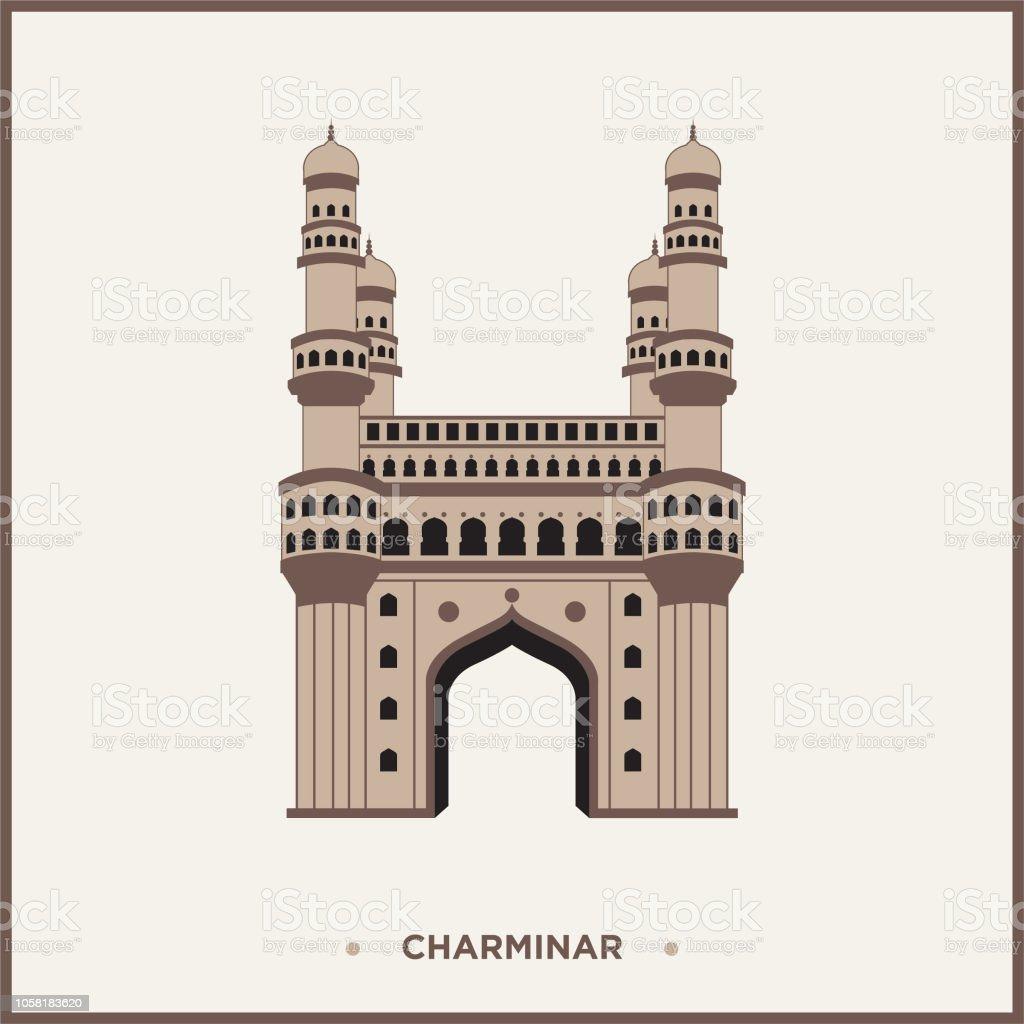 Vector Illustration Of Charminar Hyderabad India Stock Illustration