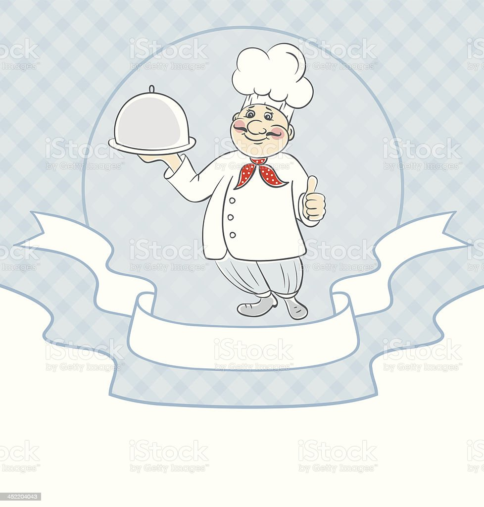 Vector illustration of Chef cook men royalty-free stock vector art