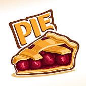 Vector illustration of Cherry Pie