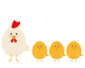 istock Vector illustration of chickens and chicks. 1222892260