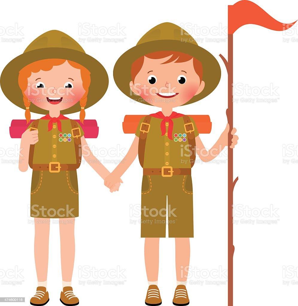 royalty free boy scout uniform clip art vector images rh istockphoto com girl scout clipart scout clipart uk