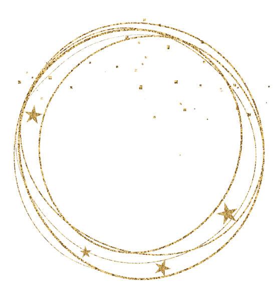 クリスマス サークル フレームのベクトル イラスト - いたずら書き/手書きのフレーム点のイラスト素材/クリップアート素材/マンガ素材/アイコン素材