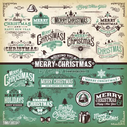 istock Vector illustration of Christmas labels 186738197