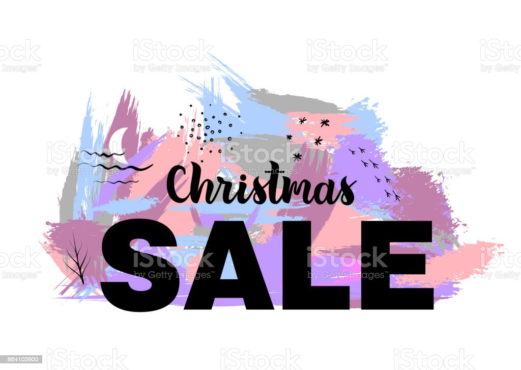 Vector illustration of Christmas sale. royalty-free vector illustration of christmas sale stock vector art & more images of abstract