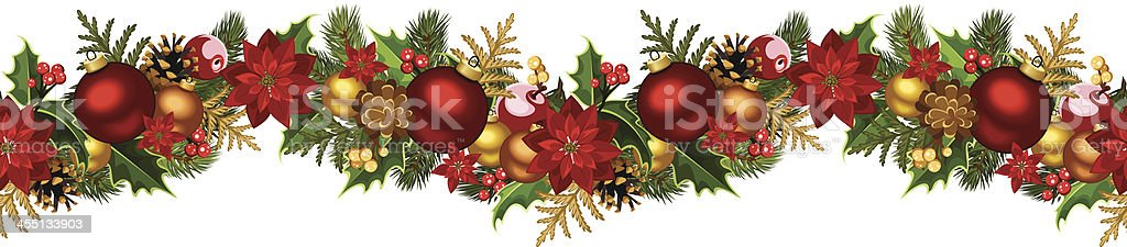 Vector illustration of Christmas seamless background vector art illustration