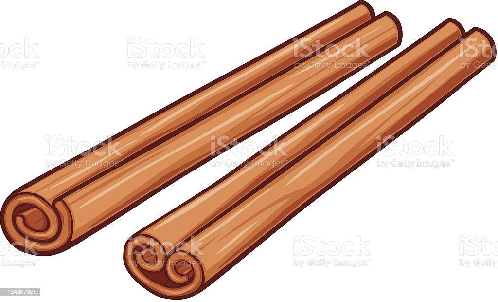 vector illustration of cinnamon sticks vector art illustration