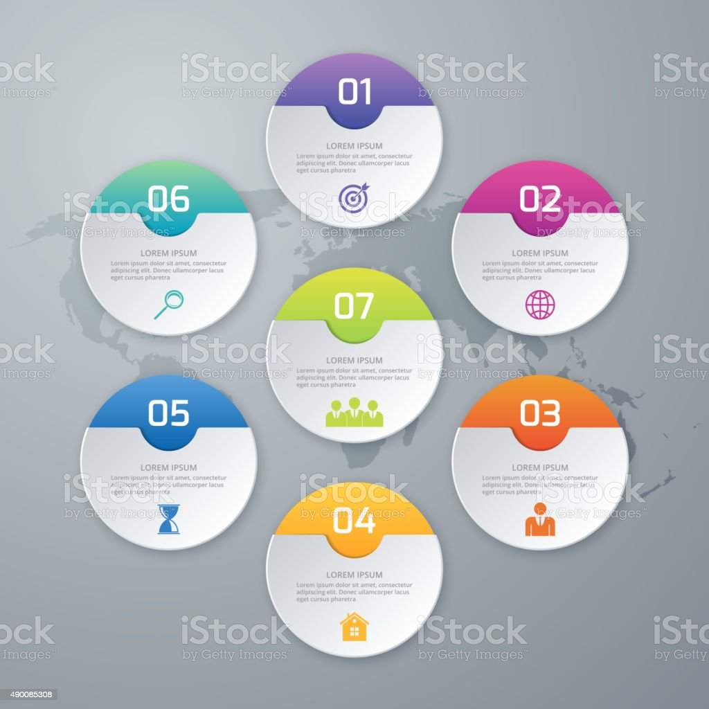 Vector illustration of circles infographics