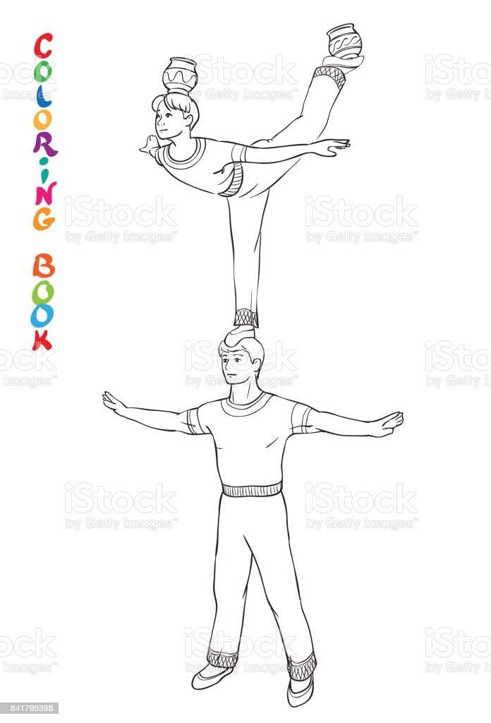 Ilustración de Ilustración De Vector De Acróbatas De Circo Libro ...