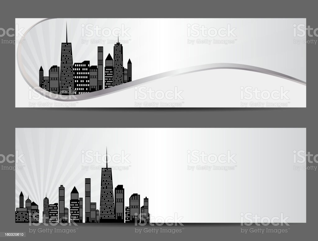 vector illustration of cities silhouette banner vector art illustration