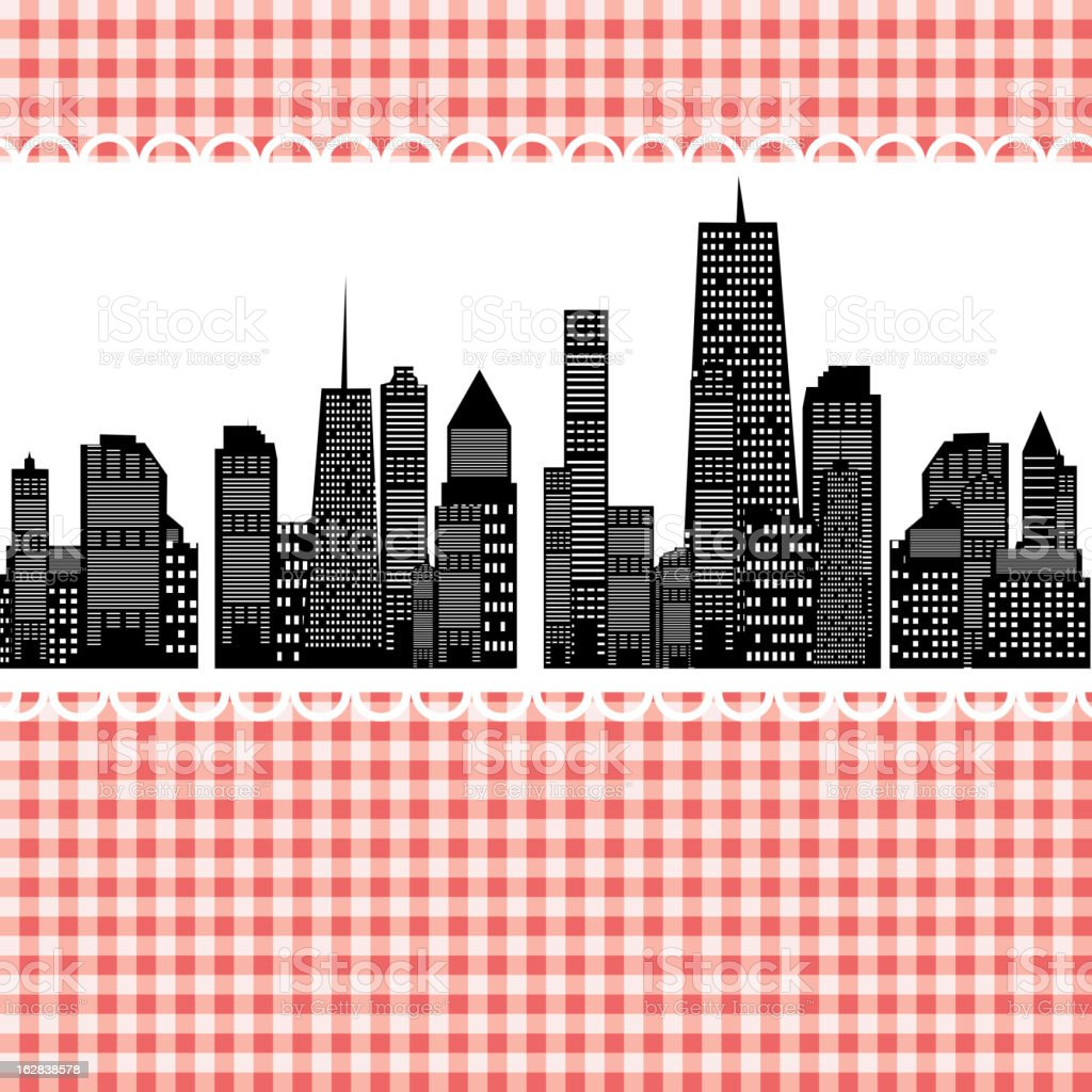 Vector illustration of cities silhouette royalty-free stock vector art