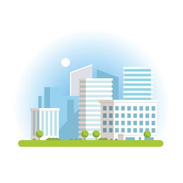 Vektor-Illustration der Stadt-Insel-Symbol auf weißem Hintergrund – Vektorgrafik