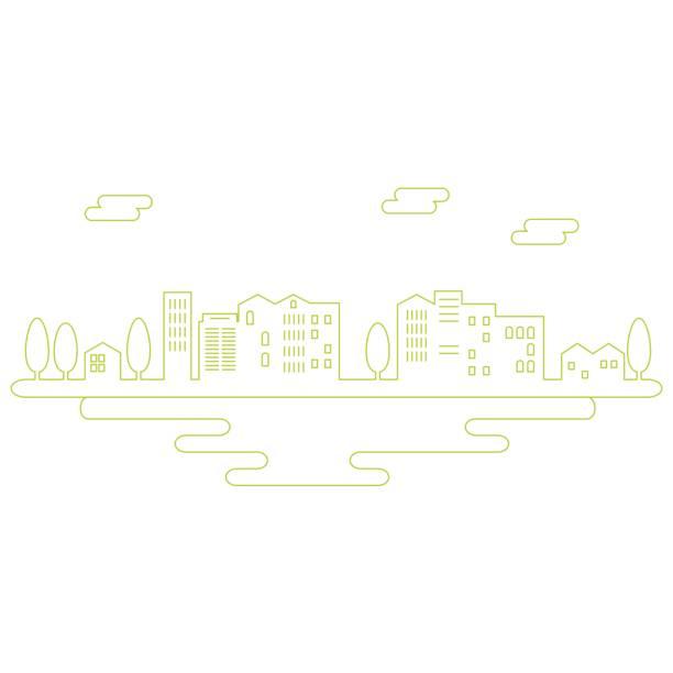 都市景観のベクトル イラスト - 町点のイラスト素材/クリップアート素材/マンガ素材/アイコン素材