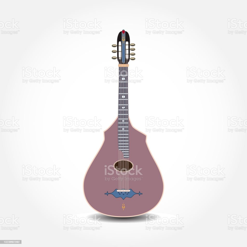 Vector illustration of classic acoustic guitar vector art illustration