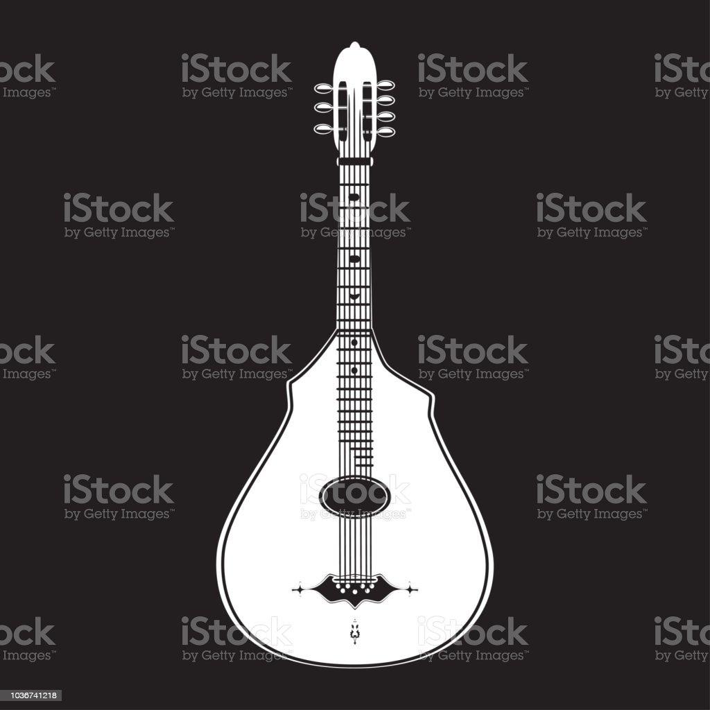 Ilustración de Ilustración De Vector De Plantilla De Guitarra ...