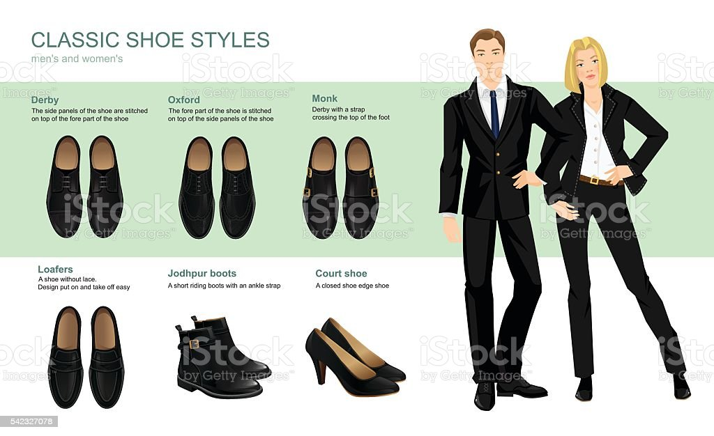 Vector illustration of classic shoes style. vector art illustration