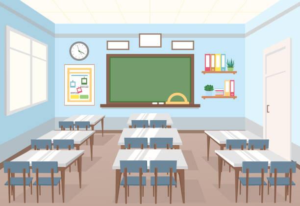 Empty Classroom Illustrations, Royalty-Free Vector ...