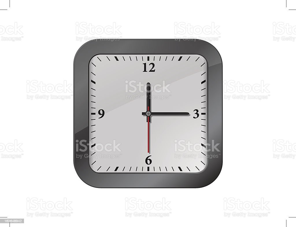 Vector illustration of clock royalty-free stock vector art