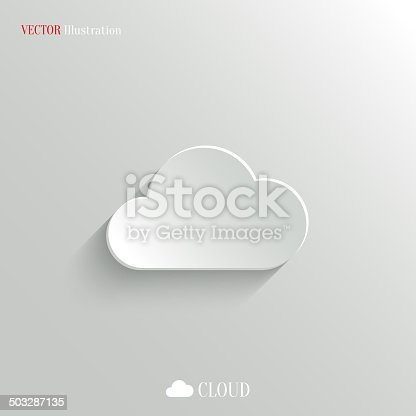 istock Vector illustration of cloud icon on white 503287135