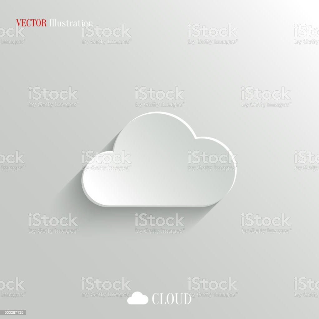 Vector illustration of cloud icon on white vector art illustration