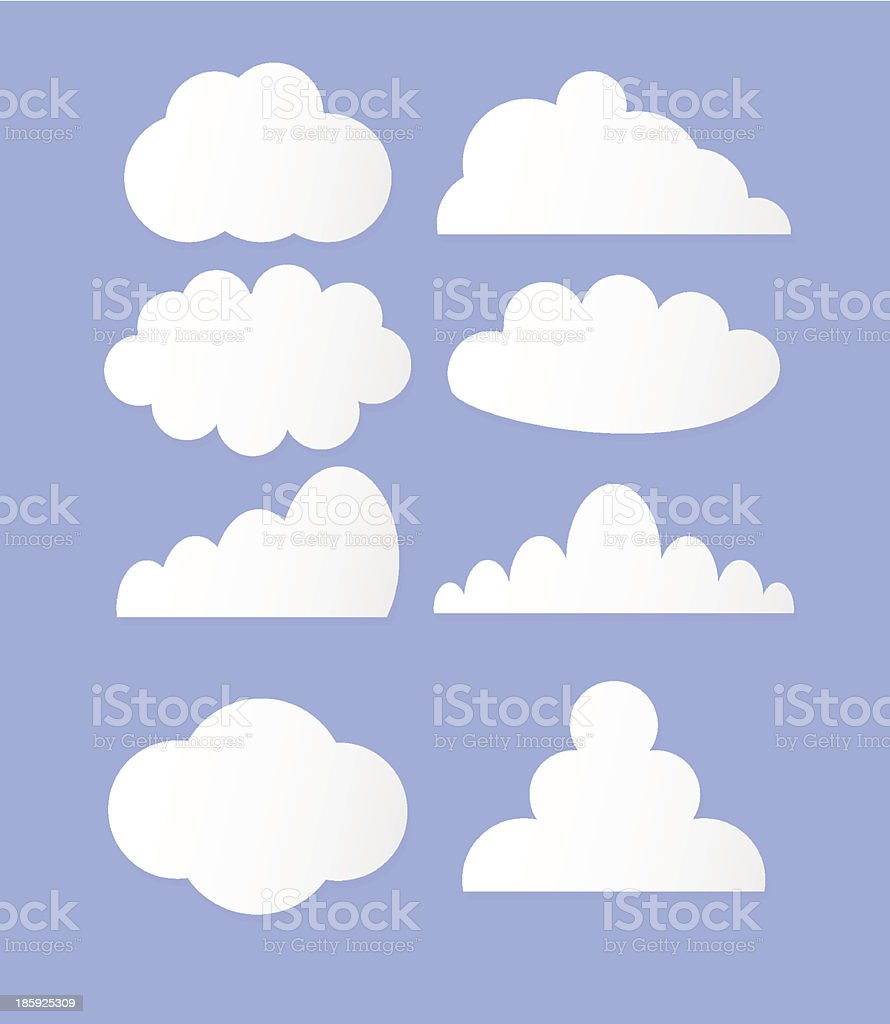Vector illustration of clouds collection royalty-free vector illustration of clouds collection stock vector art & more images of backgrounds