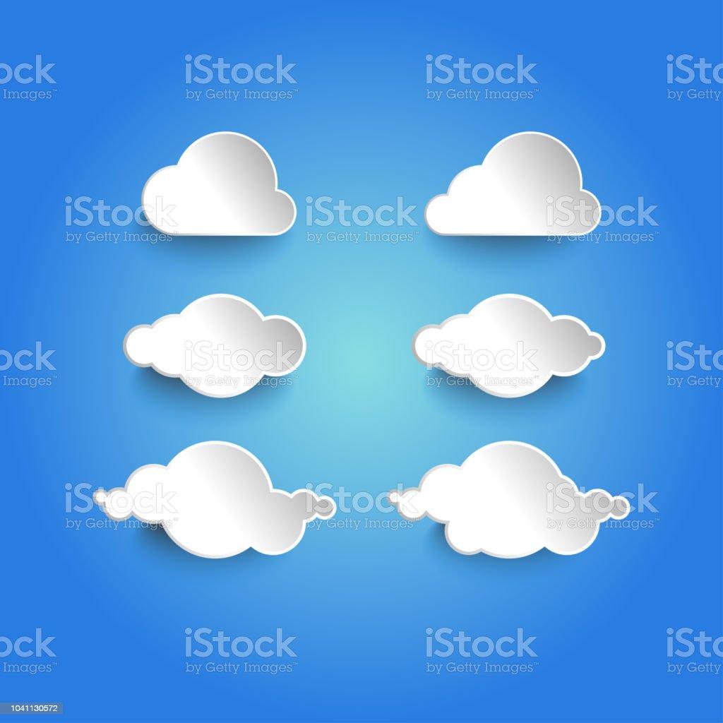 Illustration Vectorielle De Calibre Dicône Cloudsclouds Forme De