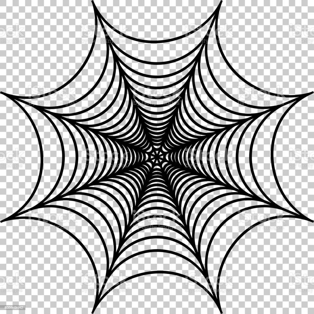 Ilustración De Vector De Tela De Araña - Arte vectorial de stock y ...