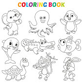 Vector Illustration Of Coloring Book Page