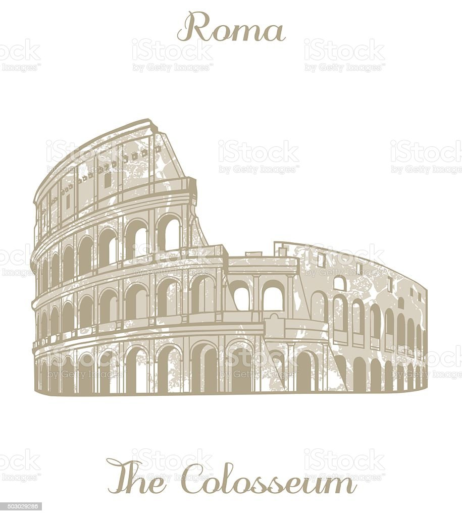 vector illustration of Colosseum vector art illustration