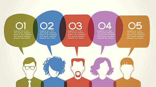 ベクトルイラストコンセプトの通信 - 人口統計のインフォグラフィック点のイラスト素材/クリップアート素材/マンガ素材/アイコン素材