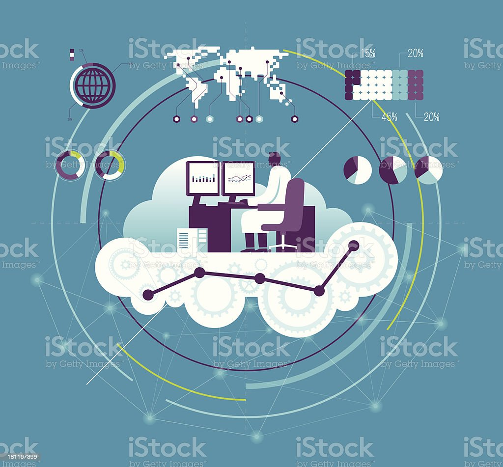 Vector illustration of computing concept royalty-free stock vector art