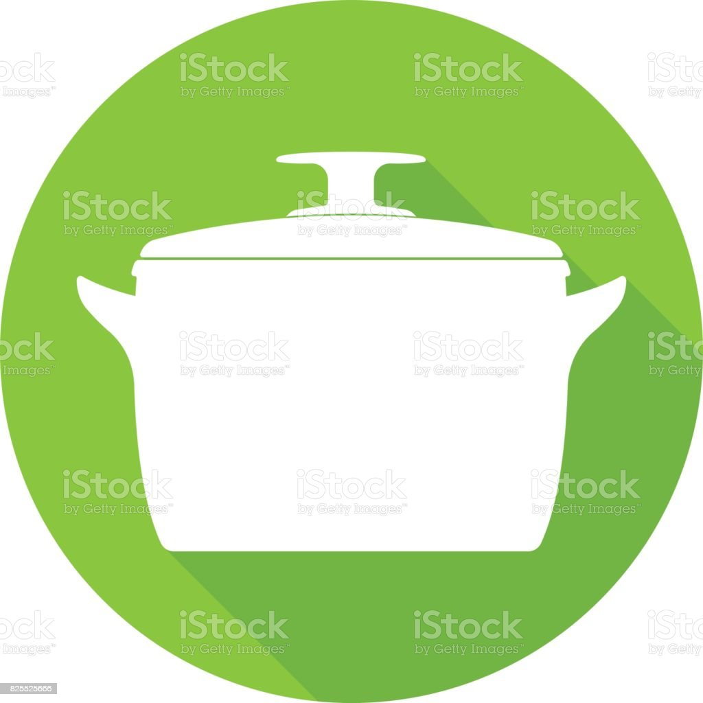 Vector Illustration of Cooking pan icon vector art illustration