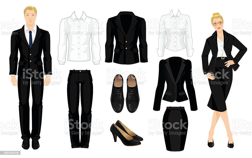 Vector illustration of corporate dress code. vector art illustration