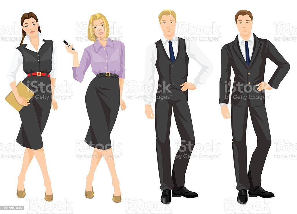 Ilustración de vectores de negocios código de vestimenta. - ilustración de arte vectorial