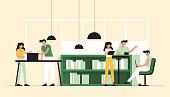 Vector Illustration of Coworking Concept. Flat Modern Design for Web Page, Banner, Presentation etc.
