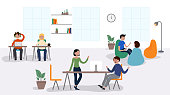 Vector Illustration of Coworking Concept. Flat Modern Design for Web Page, Banner, Presentation etc.