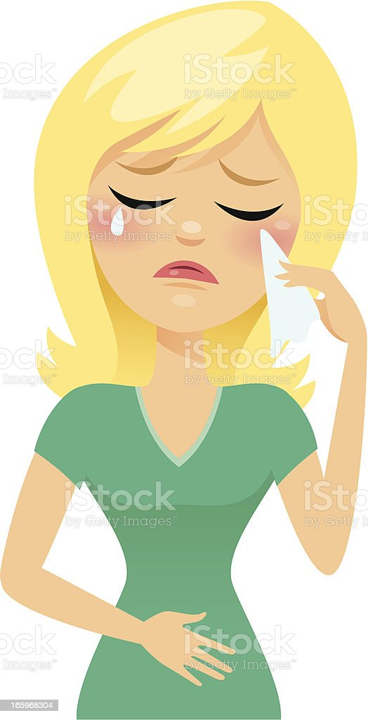 Vector illustration of crying blond woman royalty-free vector illustration of crying blond woman stock vector art & more images of adult