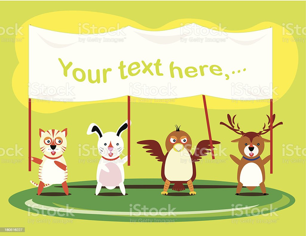 Vector illustration of cute animals royalty-free stock vector art
