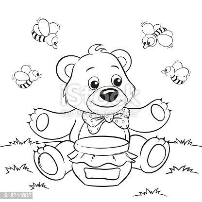 Ilustración de Ilustración Vectorial De Dibujos Animados Lindo Oso ...