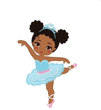 Vector illustration of cute little ballerina.